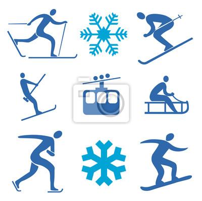 icônes de sports d'hiver