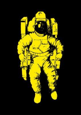 Posters Illustration Croquis d'un astronaute