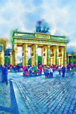 Posters Illustration d'art de Berlin