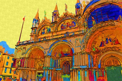 Posters Illustration d'art de Venise