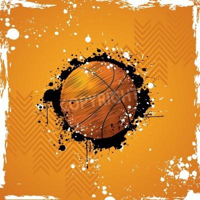 Posters illustration de basket-ball sur fond grungy abstraite