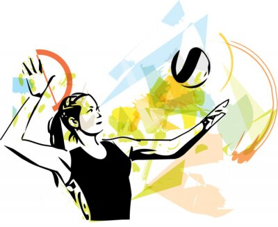 Posters Illustration de volleyeur jeu