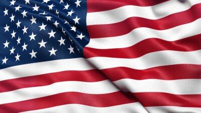 Posters Illustration du drapeau national USA