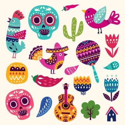 Posters Illustration, Symboles, Mexique