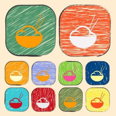 Posters illustration vectorielle de l'icône silhouette moderne