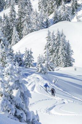 Posters Im Tirol Tourengeher verschneiten