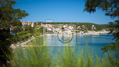 image couleur Panorama de Croatie, Kvarner, l'île de Krk, Silo