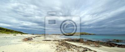image couleur Panorama de l'île de Iona plage un jour nuageux