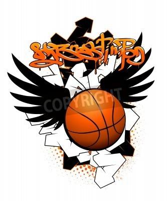 Posters image de graffiti de basket-ball