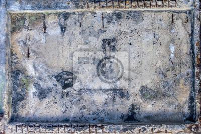 Image horizontale de couleur de mur de métal rouillé