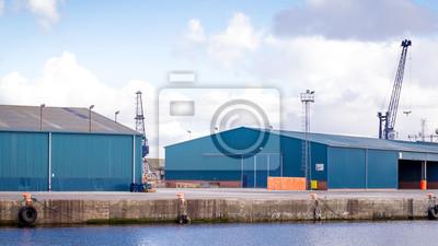 Image horizontale de couleur de quais à Édimbourg