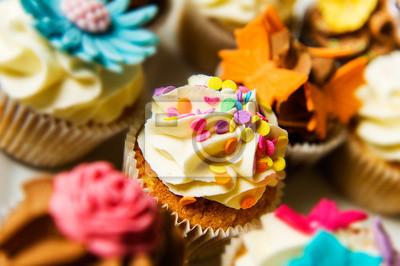 image horizontale de couleur des petits gâteaux