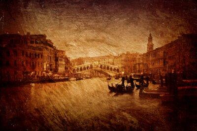 Image texturée du pont du Rialto à Venise.