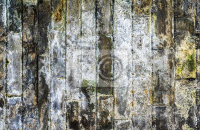 Image verticale de couleur du mur de brique sale