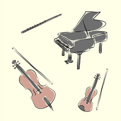 Posters instruments de musique