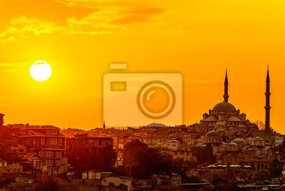 Posters Istanbul coucher de soleil