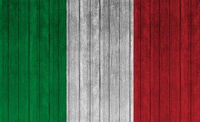 Posters Italie, drapeau, vieux, bois, fond