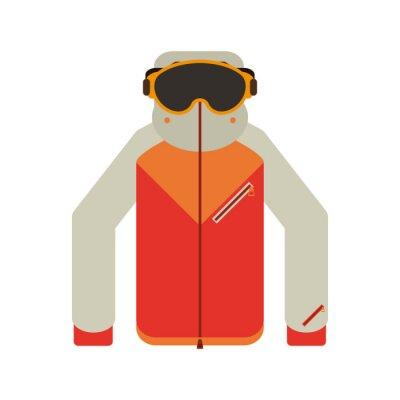 Jacker d'hiver et lunettes