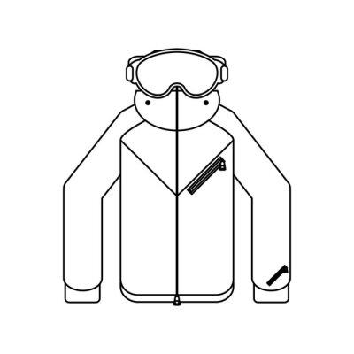 Jacker d'hiver et lunettes noir et blanc