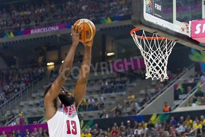 Posters James Harden of USA in action at FIBA World Cup basketball match between USA Team and Lithuania, final score 96-68, on September 11, 2014, in Barcelona, Spain