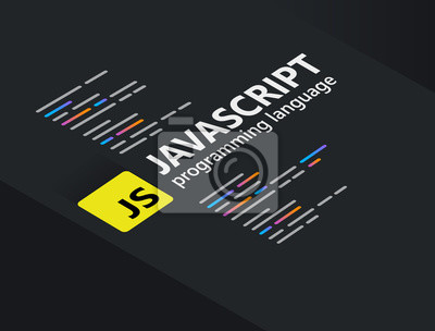 Posters Javascript the popular programming language coding software technology vector illustration