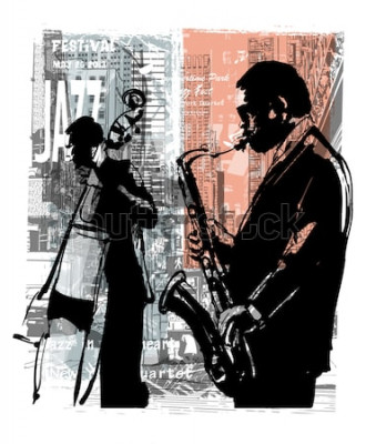 Posters Jazz à New York - illustration vectorielle