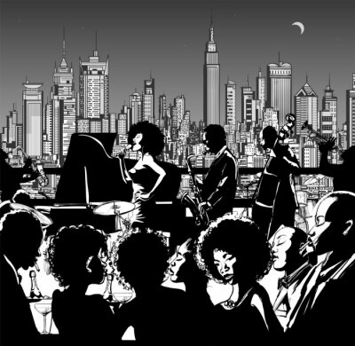 Posters Jazz music band performing in New York
