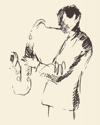 Posters Jazz poster saxophone music acoustic consept