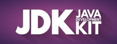 Posters JDK - Java Development Kit acronym, technology concept background