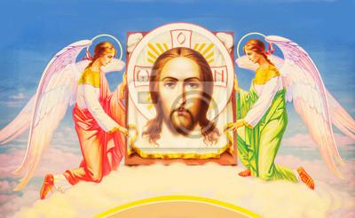 Jésus-Christ entre deux anges