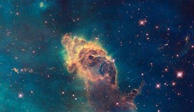 Posters Jet dans Carina Nebula. Composé de gaz et de poussière.