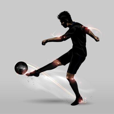 Posters Joueur de foot demi-volée
