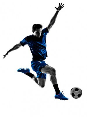 Posters joueur de football italien homme silhouette