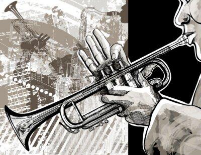 Posters Joueur de trompette
