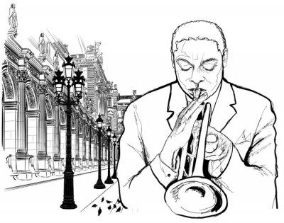 Posters Joueur de trompette à Paris
