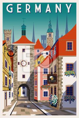Jour d'été dans une petite ville en Allemagne