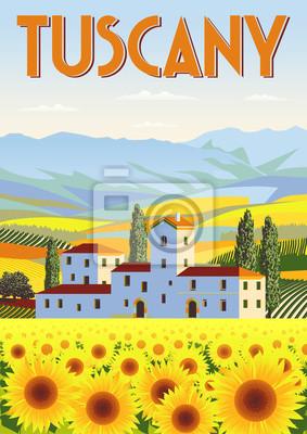 Jour d'été en Toscane, Italie