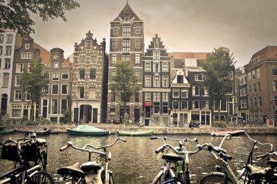 Posters jour gris à amsterdam ville