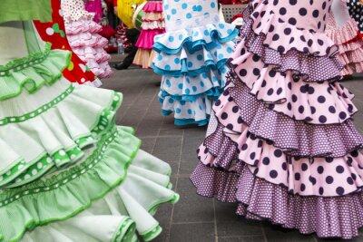 Posters jupes de danseurs de flamenco espagnol