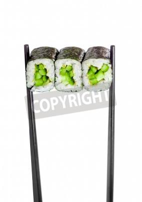 Posters Kappa rouleau de maki. Sushi Roll sur un fond blanc