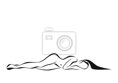 kobieta leżąca