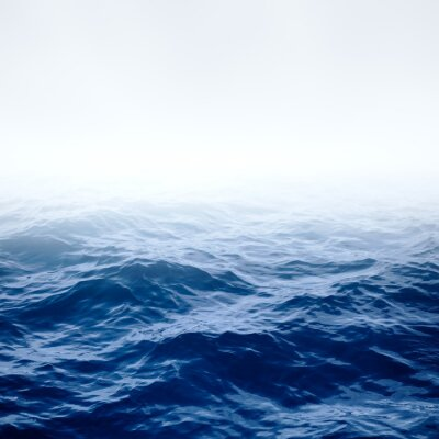 Posters L'océan et le ciel bleu clair