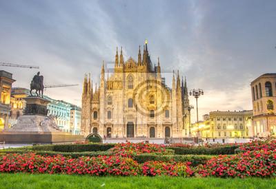 La belle Duomo à Milan, Italie