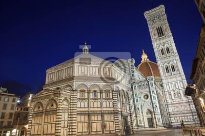 La cathédrale, le baptistère et Giotto Belltower, Florence, Italie