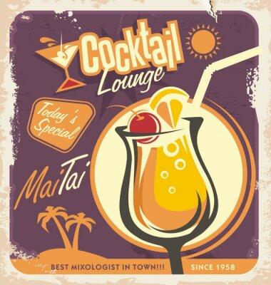 Posters La conception d'affiches rétro pour l'un des cocktails les plus populaires