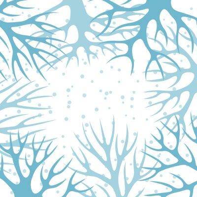 Posters La conception d'hiver de fond avec des arbres stylisés abstraites