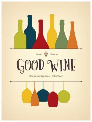 Posters la conception de la liste de vin