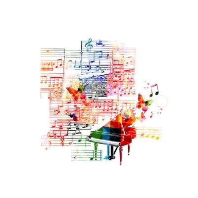 Posters La conception de piano coloré