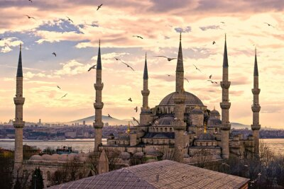 Posters La Mosquée Bleue, Istanbul, Turquie.