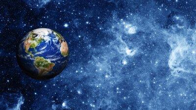 Posters la planète Terre dans l'espace
